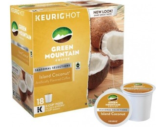 50% off Green Mountain Coffee Island Coconut K-Cups (18-Pack)