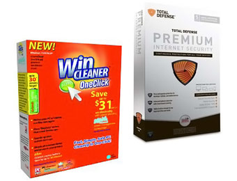 Free WinCleaner OneClick Professional & Total Defense Security Software Bundle