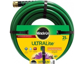 50% off Miracle Gro UltraLite Garden Hose, 25-Feet