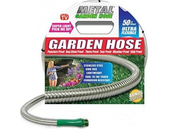 60% off Metal Garden Hose (50'), the Original 304 Stainless Steel Hose