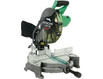 "$60 off Hitachi C10FCH2 15-Amp 10"" Single Bevel Compound Miter Saw"