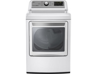 22% off LG 7.3 Cu. Ft. 9-Cycle Electric Dryer DLE7200WE