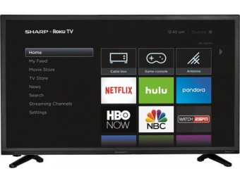 "$64 off Sharp LC-32LB591U 32"" LED 720p Smart HDTV Roku TV"