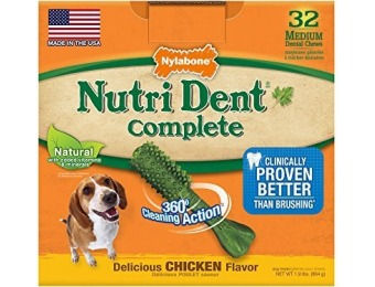 61% off Nutri Dent Adult Chicken 32ct Medium Pantry Pack