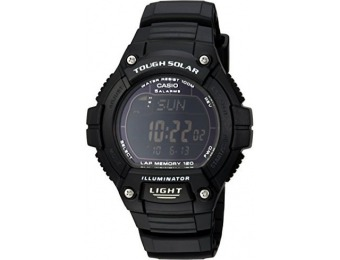 "50% off Casio W-S220-1BVCF ""Tough Solar"" Men's Running Watch"