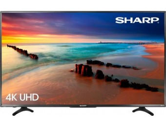 "$250 off Sharp 55"" LED 2160p Smart 4K Ultra HD TV Roku TV"
