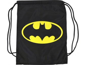 80% off Concept One Batman Logo Cinch Bag with Cape