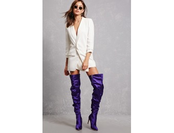 50% off Satin Over-the-Knee Boots