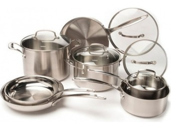 $335 off Cuisinart 12-Pc Chrome Stainless Steel Cookware Set