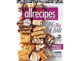 87% off AllRecipes Magazine Subscription