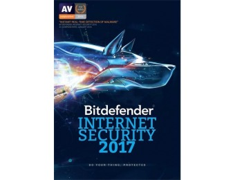 75% off Bitdefender Internet Security 2017 1-Year - Android | Mac | Windows