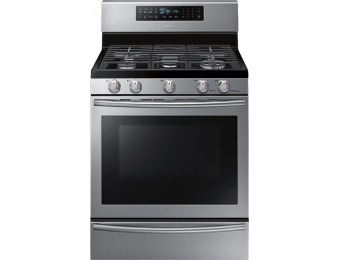 36% off Samsung NX58H5650WS Stainless Steel Freestanding Gas Range with True Convection