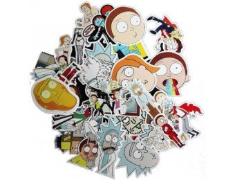 60% off Rick and Morty Decal Stickers 50Pcs