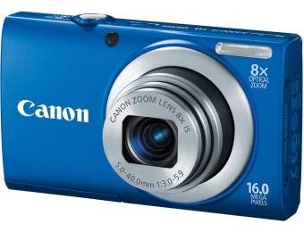 $100 off Canon PowerShot A4000IS 16MP Digital Camera