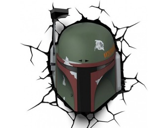 70% off Star Wars 3D Wall Boba Fett Nightlight