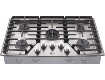 35% off LG STUDIO 30 in. Gas Cooktop in Stainless Steel with 5 Burners