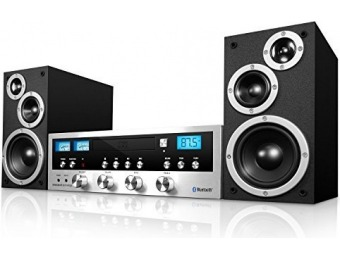 30% off Innovative Technology Classic Retro Bluetooth Stereo System