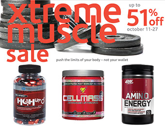 Xtreme Muscle Sale - Up to 51% off supplements