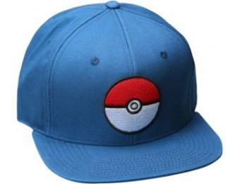 74% off Pokemon Pokeball Trainer Blue Snapback Hat