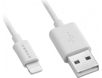 75% off Dynex Apple MFi Certified 3' Lightning Charge-and-Sync Cable