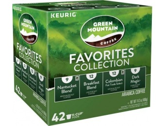31% off Green Mountain Favorites Collection K-Cups (42-Pack)
