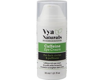 45% off Vya Naturals Caffeine Under Eye Cream w/ Green Coffee