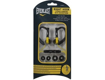 "84% off Everlast ""Right Hook"" Sports Earhook Earbuds w/ Mic"