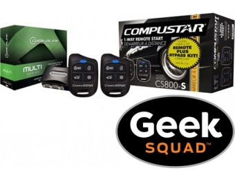$120 off CompuStar Remote Start Kit with Geek Squad Installation