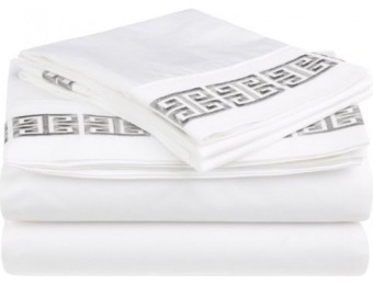 91% off Embroidered 4-Pc California King Kendell Bed Sheet Set