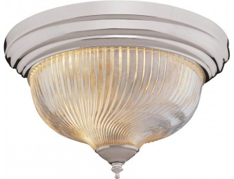 78% off Bel Air Lighting Murano 3-Light Brushed Nickel Flushmount with Clear Shade