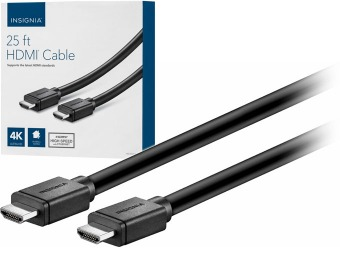 71% off Insignia 25' 4K Ultra HD In-Wall HDMI Cable