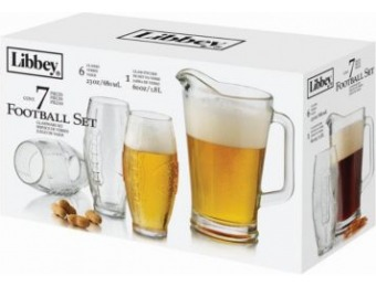 66% off Football Pitcher and Glasses 7 Pc Set