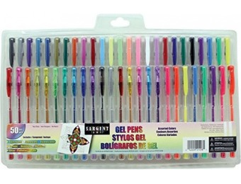 81% off Sargent Art 50ct Assorted Gel Pen Set