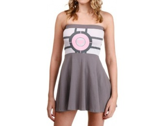 80% off Portal Companion Cube Tube Dress
