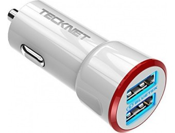 65% off PowerDash 4.8A/24W 2-Port Rapid USB Car Charger