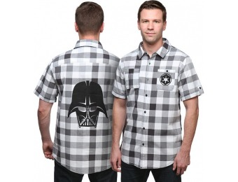80% off Star Wars Darth Vader Plaid Button-Down Shirt