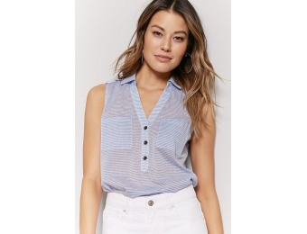 55% off Semi-Sheer Stripe Top