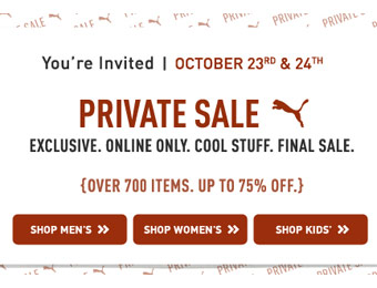 Puma Private Sale - Up to 75% off, Over 700 Items
