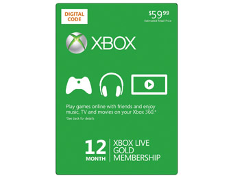 $20 off Xbox Live 12 Month Gold Membership