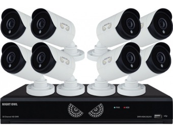 31% off Night Owl 8-Channel 8-Cameras 1080p 1TB DVR Security System