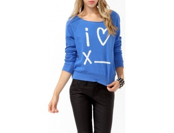 61% off I [Heart] Pullover Women's Shirt