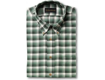 76% off Brushed Cotton Green Check Sport Shirt