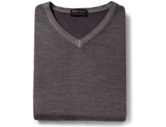 83% off Acid Wash V-Neck Men's Sweater