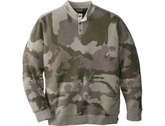 78% off Cabela's Men's Waterfowl Fatigue Sweater with 4MOST Windshear