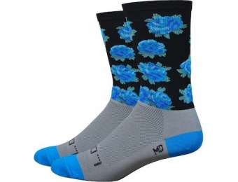 "60% off DeFeet Sako7 Blue Rose Aireator 6"" Socks"