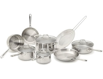 50% off Emeril by All-Clad Pro-Clad 12-Pc Cookware Set E914SC64