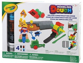 58% off Crayola Modeling Dough Deluxe Construction Zone Kit