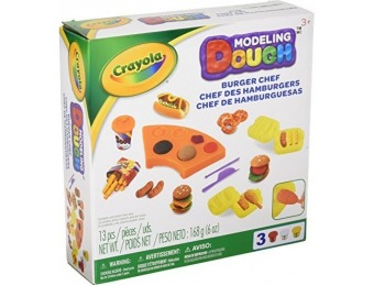77% off Crayola Modeling Dough Burger Chef Kit