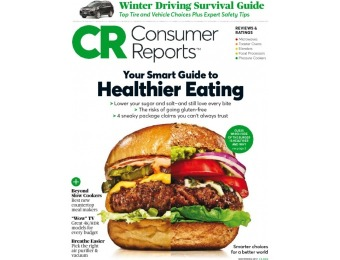77% off Consumer Reports Magazine, $19.99 / 13 Issues