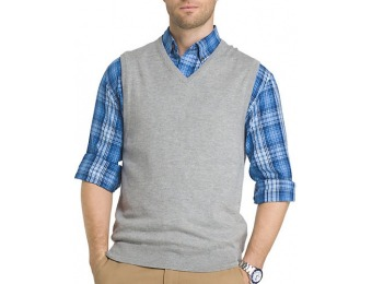 60% off IZOD Mens Fieldhouse Solid V-Neck Sweater Vest